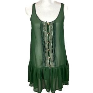 Patterson J Kincaid Original Olive Tunic with Gold